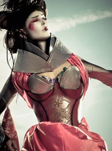 cybergeisha redleather bodyarmorcorset 222x300 London Alternative Market